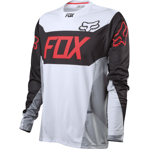 CAMISA FOX DEMO DEVICE MANGA LONGA - BRANCO/PRETO